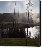 Yellowstone Morning Canvas Print by Charles Warren