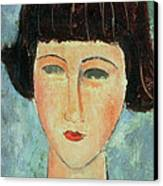 Young Brunette Canvas Print by Modigliani