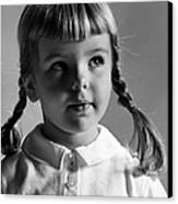 Young Girl Canvas Print by Hans Namuth and Photo Researchers
