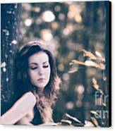 Young Woman In The Forest Canvas Print by Gabriela Insuratelu