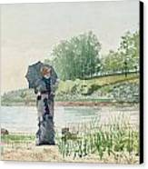 Young Woman Canvas Print by Winslow Homer