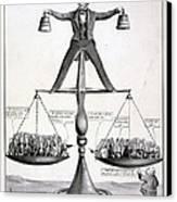 Zachary Taylor, Political Cartoon Canvas Print by Everett