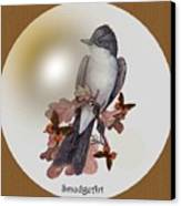 Eastern Kingbird Canvas Print by Madeline  Allen - SmudgeArt
