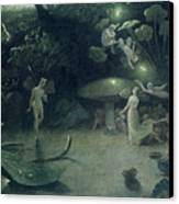 Scene From 'a Midsummer Night's Dream Canvas Print by Francis Danby