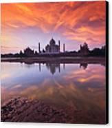 .: The Taj :. Canvas Print by Photograph By Ashique