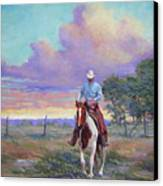 050617-1620   Today Is A One Man Job  Canvas Print by Kenneth Shanika