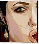 053. Never Send A Boy To Do A Woman's Job Canvas Print by Tam Hazlewood