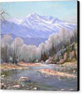 060521-3624  Spring In The Rockies Canvas Print by Kenneth Shanika