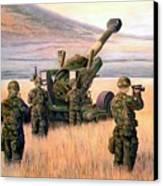 1-190th Artillery Canvas Print by Scott Robertson
