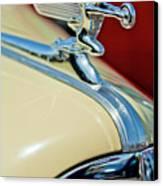 1940 Packard Hood Ornament Canvas Print by Jill Reger