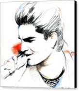 Adam Lambert Canvas Print by Lin Petershagen