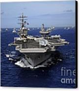 Aircraft Carrier Uss Ronald Reagan Canvas Print by Stocktrek Images