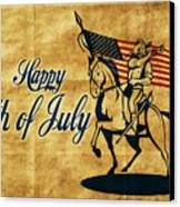 American Cavalry Soldier Canvas Print by Aloysius Patrimonio