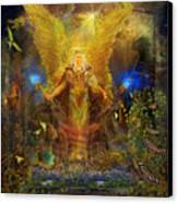 Archangel Michael-angel Tarot Card Canvas Print by Steve Roberts