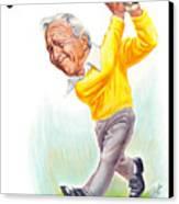 Arnie Canvas Print by Harry West