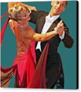 Ballroom Dancers Canvas Print by Larry Linton
