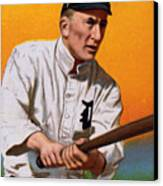 Baseball. Ty Cobb Baseball Card Canvas Print by Everett