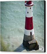 Beachy Head Lighthouse. Canvas Print by Donald Davis