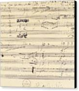 Beethoven Manuscript, 1826 Canvas Print by Granger