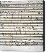 Beethoven Manuscript Canvas Print by Granger
