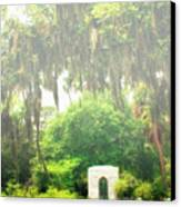Bonaventure Cemetery Savannah Ga Canvas Print by William Dey