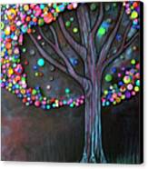 Button Tree 0006 Canvas Print by Monica Furlow