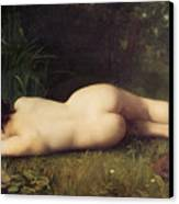 Byblis Turning Into A Spring Canvas Print by Jean-Jacques Henner