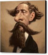Charles Dickens Canvas Print by Court Jones