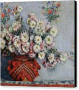 Chrysanthemums Canvas Print by Claude Monet