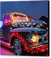 Colorado Christmas Truck Canvas Print by Bob Berwyn