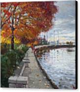 Fall In Port Credit On Canvas Print by Ylli Haruni