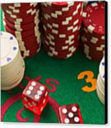 Gambling Dice Canvas Print by Garry Gay