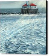 Harbor Light Canvas Print by Doug Kreuger