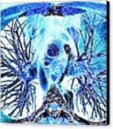 Heart And Lungs, 3d Ct Scan Canvas Print by Pasieka