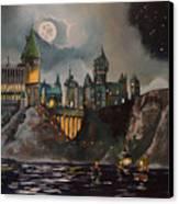 Hogwart's Castle Canvas Print by Tim Loughner