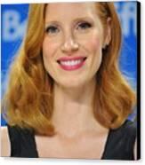 Jessica Chastain At The Press Canvas Print by Everett
