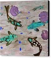 Koi Fish Feng Shui Canvas Print by Georgeta  Blanaru
