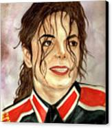 Michael Jackson - You Are My Life Canvas Print by Nicole Wang