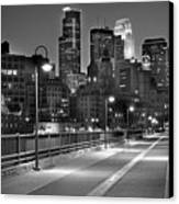 Minneapolis Skyline From Stone Arch Bridge Canvas Print by Jon Holiday