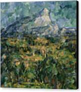 Mont Sainte Victoire Canvas Print by Paul Cezanne