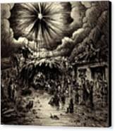 Night In Bethlehem Canvas Print by Rachel Christine Nowicki