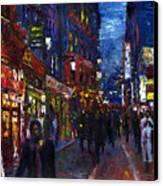 Paris Quartier Latin 01 Canvas Print by Yuriy  Shevchuk