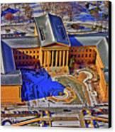 Philadelphia Museum Of Art 26th Street And Benjamin Franklin Parkway Philadelphia Pennsylvania 19130 Canvas Print by Duncan Pearson