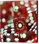 Pile Of Dice At A Casino, Las Vegas, Nevada Canvas Print by Christian Thomas