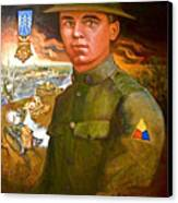 Portrait Of Corporal Roberts Canvas Print by Dean Gleisberg