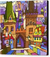 Prague Charles Bridge 01 Canvas Print by Yuriy  Shevchuk