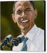 President Barack Obama Canvas Print by Christopher Oakley
