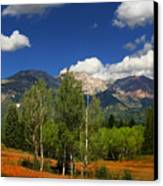 Rocky Mountains Canvas Print by Mark Smith