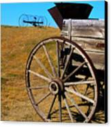 Rustic Wagon Canvas Print by Perry Webster