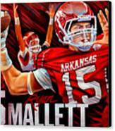 Ryan Mallett Canvas Print by Jim Wetherington